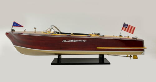Chris Craft Capri Handcrafted Wooden Model Boat Ready To Display