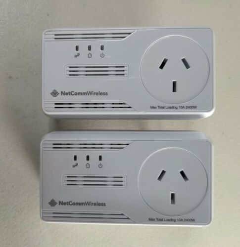 2 x NP205 Netcomm Powerline Adapters 200mbps