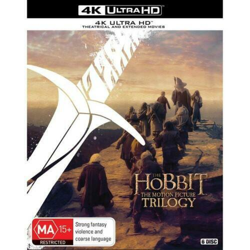 The Hobbit Trilogy 4K Ultra HD Theatrical & Extended Versions BRAND NEW Region B