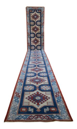 3x18 ft Runner Hand Knotted EXTRA LONG Runner Rug Low Pile Actual: 2.7 x 18.4 ft