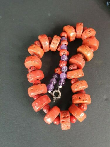 Old Tribal Colourful Glass Beaded Necklace …beautiful collection and accent piec