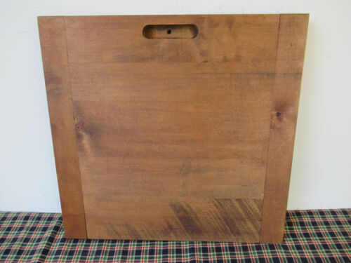 "Vintage Dough Bread Board, Chopping Block Wood, 14"" x 14"" x 1"" Thick, Primitive"