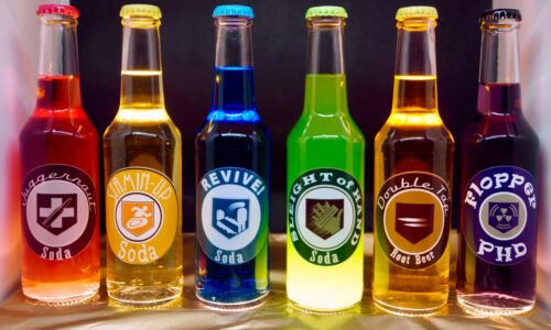 Epic 6 Pack Bottles Set - Perk a Cola - Call of Duty Black Ops Zombie DRINKABLE