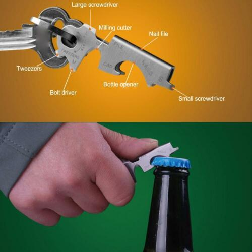 Keychain Camping Hiking 8 In 1 Outdoor Survival Gear Opener Tool I7c1 E6p3