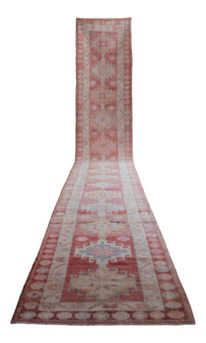 3x18 ft Runner Hand Knotted EXTRA LONG Low Pile Runner Rug Actual: 2.9 x 18.4 ft