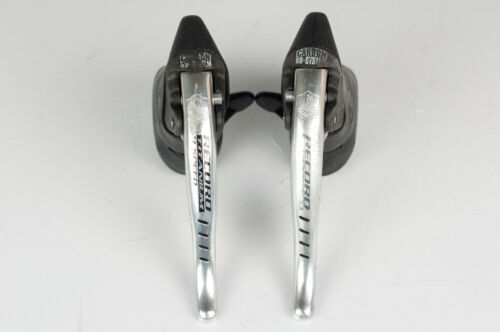CAMPAGNOLO RECORD TITANIUM 9 SPEED ERGOPOWER VINTAGE 90s BRAKE LEVERS SHIFTING