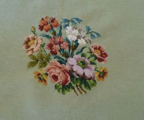 VINTAGE QUALITY TAPESTRY FLORAL FIRE SCREEN PANEL Worked READY TO FRAME