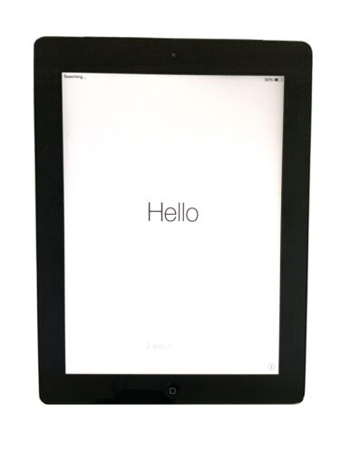 Apple Ipad 2 32GB WiFi Cellular Black Plus Charger And Case No Damage