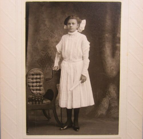 Victorian Antique Cabinet Card Photo of Young Girl's Graduation
