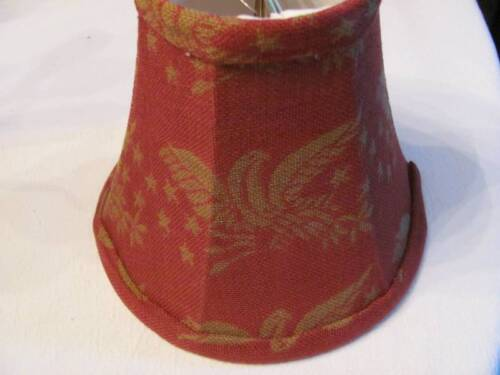 """Small 5 1/2"""" Colonial  Americana Eagle Coverlet Clip On Lampshade, Lined Inside"""