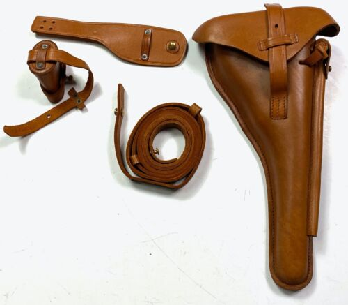 WWI WWII GERMAN P08 LUGER NAVY ARTILLERY LUGER HOLSTER & CARRY STRAPGermany - 156409