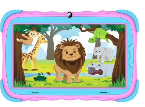 DGTEC 7'' Tablet IPS Colour - Jungle Design Pink - Android 9, Bluetooth, WiFi