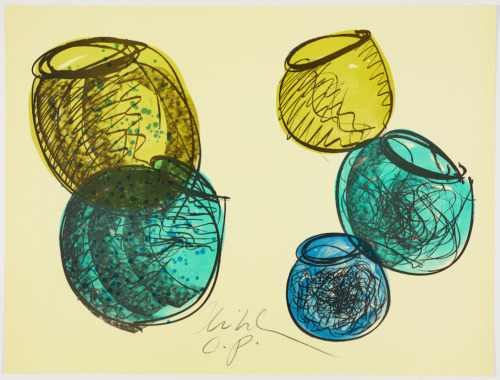 Original signed RARE Dale Chihuly Agitation HUGE unique cancellation proof