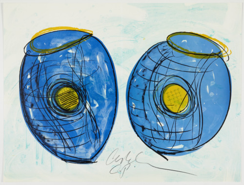 Original signed RARE Dale Chihuly HUGE unique cancellation proof