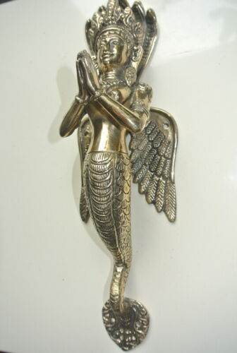 """DEWI lady brass door PULL old style heavy house pray handle 12"""" polished B"""