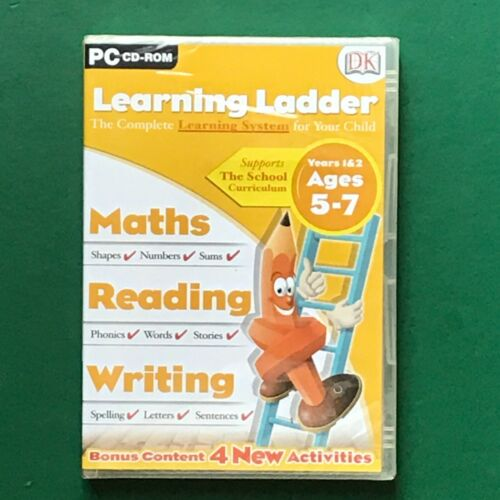 PC CD ROM Learning Ladder MATHS/READING/WRITING Years 1&2 Ages 5-7