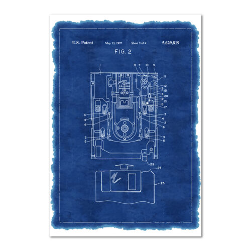 Floppy Disk Patent Poster - Invention Blue Print Wall Art - High Quality Print
