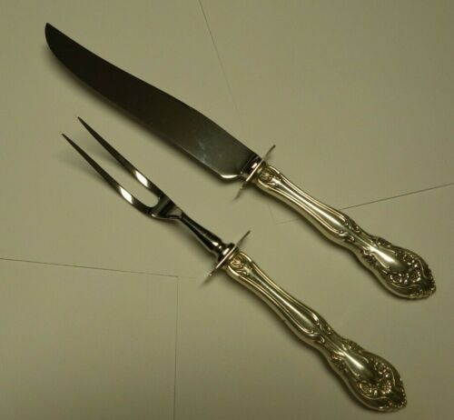 Alvin CHATEAU  Sterling Silver Handle Steak Carving Set No Monograms