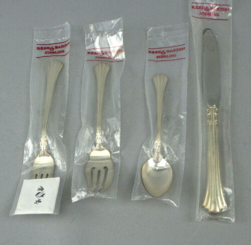 4  Pc Reed & Barton EIGHTEENTH CENTURY Sterling Silver Flaware NIP New Sealed