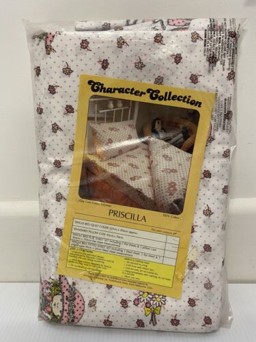 Vintage Character Collection Priscilla Single Quilt Cover Pillow Case Girl Pink