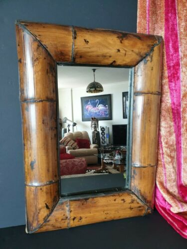 Old Bamboo Framed Mirror …beautiful collection and accent piece