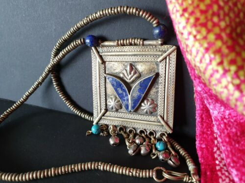 Old Tibetan Talisman with Lapis, & Turquoise …beautiful collection and accent pi
