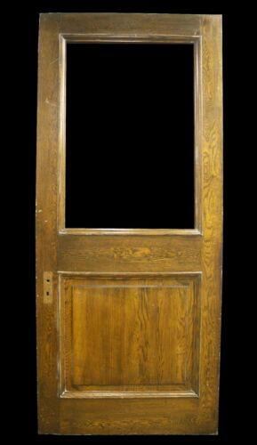 "42""x95""x1.75"" Antique Vintage Old SOLID Wood Wooden Entry Door Window Glass Pane"