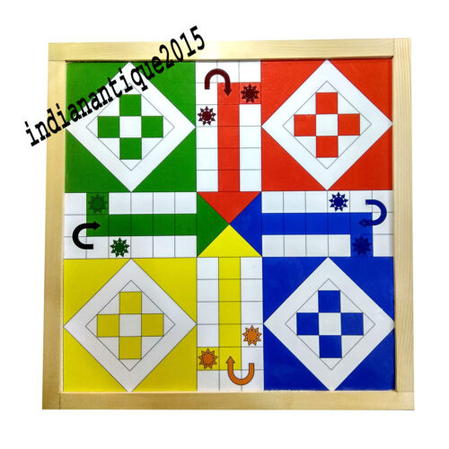 Best Nautical 2 in 1 Wooden Magnetic Ludo & Snake Ladders Board Game Set