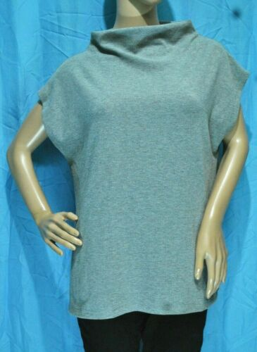 NWOT GU HIGH-NECK RIBBED TOP BLOUSE - SIZE XL