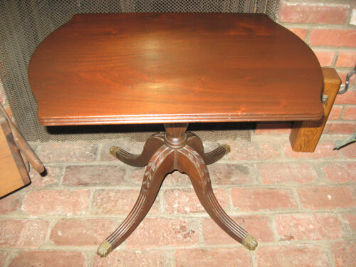 Beautiful Antique Carved  Walnut McClellan MFG Co Side Table