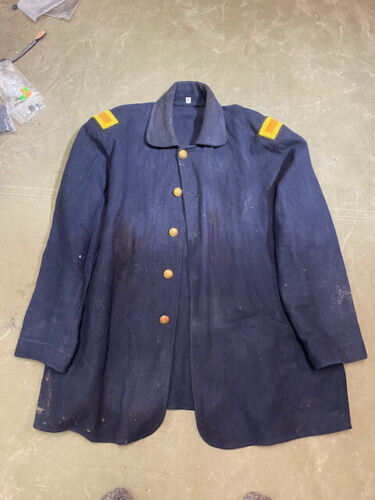 INDIAN WARS US ARMY M1880 CAVALRY OFFICER BLUE WOOL TUNIC JACKET-XLARGEUniforms - 36041