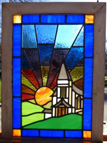 Arts and crafts church leaded stained glass window 3