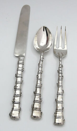 CHINESE EXPORT SILVER Three Piece Flatware Set