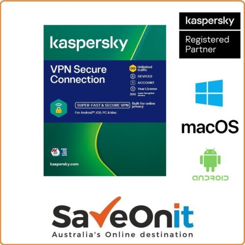 Kaspersky VPN Secure Connection 5 device 1 year Digital license by Email