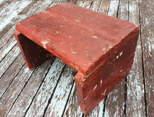 "Vtg Milking Step Stool 6"" Barn Find Country Primitive Plant Stand Display Riser"