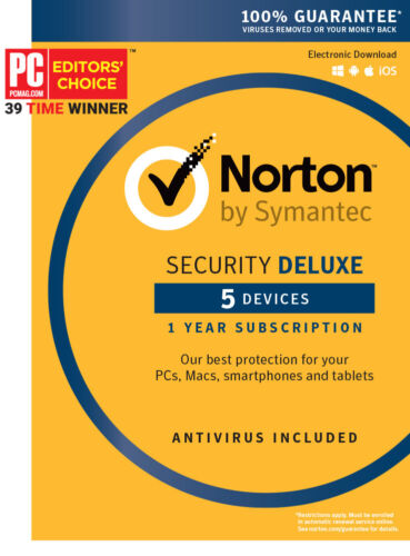 Brand New Norton Internet Security Deluxe 2021 5 Devices Key Card