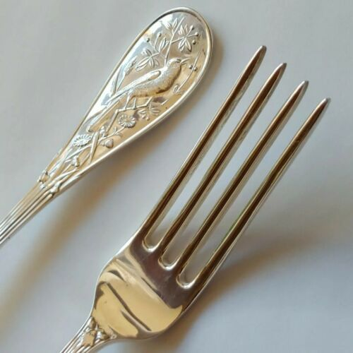 """Tiffany & Co. Sterling Silver AUDUBON ~ 2 Luncheon/Place Forks  ~ No Mono ~ 7.5"""""""