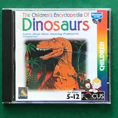 PC CD ROM The Children Encyclopedia of Dinosaurs Age 5-12