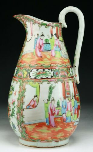 A BIG CHINESE ROSE MEDALLION PORCELAIN PITCHER