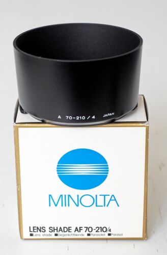 Minolta AF 70-210 mm f/4 lens shade! Absolutely new in box!