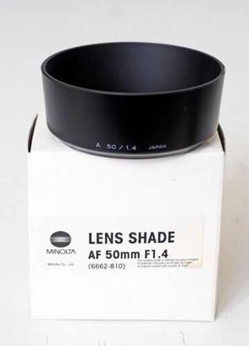 Minolta AF 50 mm f/1.4 New lens shade! Absolutely new in box!