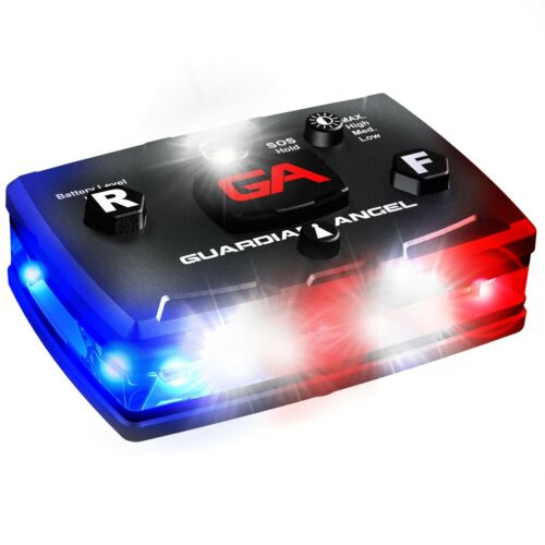 Guardian Angel Law Enforcement Red/Blue Wearable Safety Police LED Light