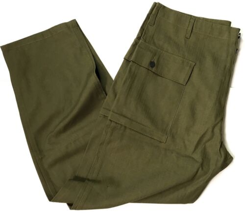 WWII US DARK SHADE TYPE II HBT COMBAT FIELD TROUSERS-LARGEUnited States - 156437