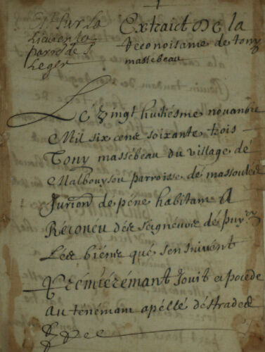 1673 antique handwritten document 9 pages signed manuscript paper 17thC french