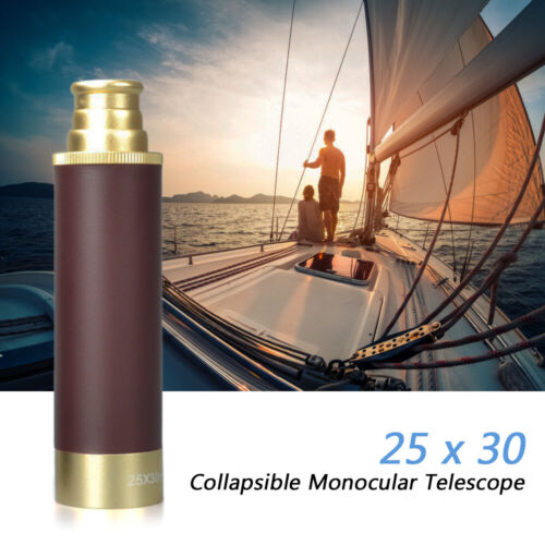 25x30 Pocket Zoomable Monocular Pirate Telescope Portable Collapsible