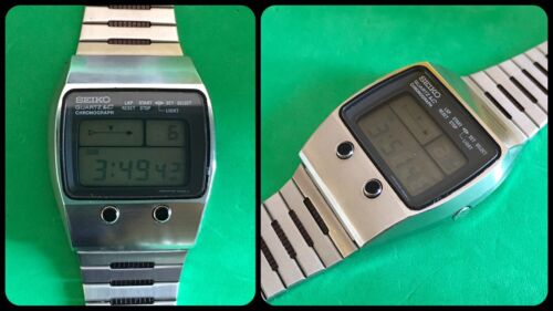 SEIKO-quartz LC-vintage digital LCD-M159 5059-Chronograph-anni'70-Japan