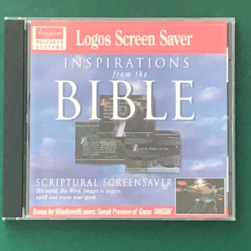 PC CD ROM Logos Screen Saver Inspirations form The BIBLE for Windows