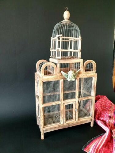 Old Victorian Hand Made Bird Cage …beautiful accent and display piece
