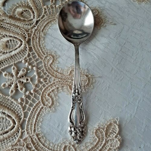 Reed & Barton Silverplate TIGER LILY Bouillon Spoon Back Mark BROWN PALACE HOTEL