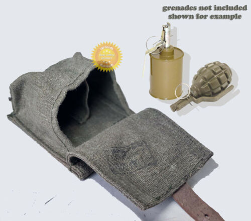 Two grenades pouch Russian Soviet Army WW2 F1/RG42 canvas stamped originalOriginal Period Items - 13982